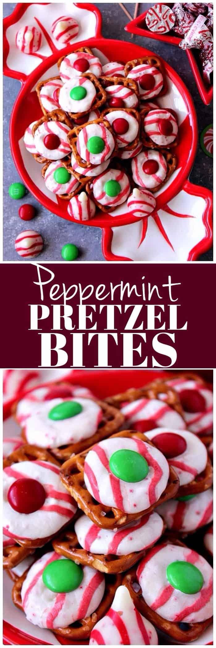 Peppermint Pretzel Bites recipe long1 Peppermint Pretzel Candy Recipe