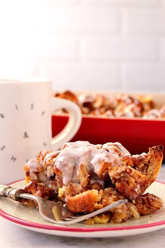 cinnamon roll French toast casserole 3 Cinnamon Roll French Toast Casserole Recipe