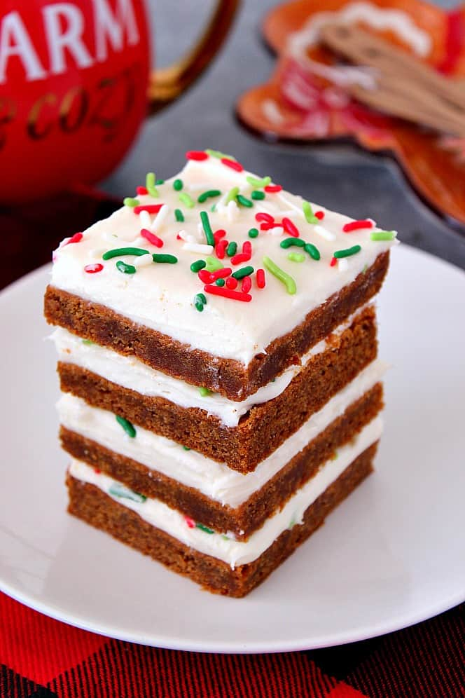 frosted gingerbread cookie bars recipe 2 Gingerbread Cookie Bars Recipe