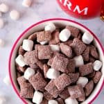 hot cocoa muddy buddies recipe 2 150x150 Hot Cocoa Muddy Buddies Recipe