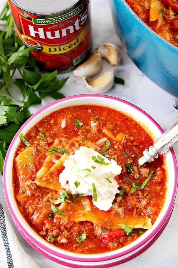 lasagna soup B Easy Lasagna Soup