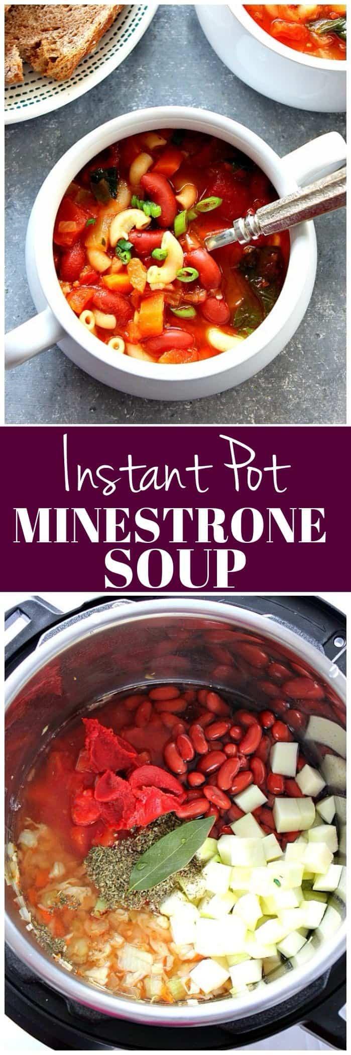 Instant Pot Minestrone Soup Recipe long1 Instant Pot Minestrone Soup Recipe