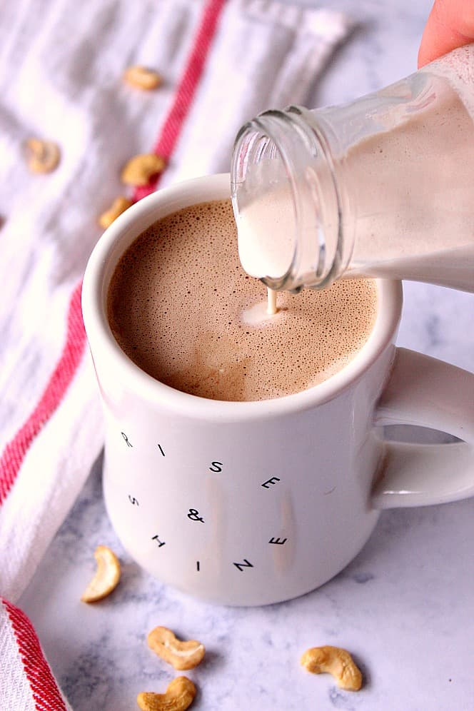 cashew coffee creamer vegan recipe 1 Cashew Coffee Creamer Recipe ( Vegan )