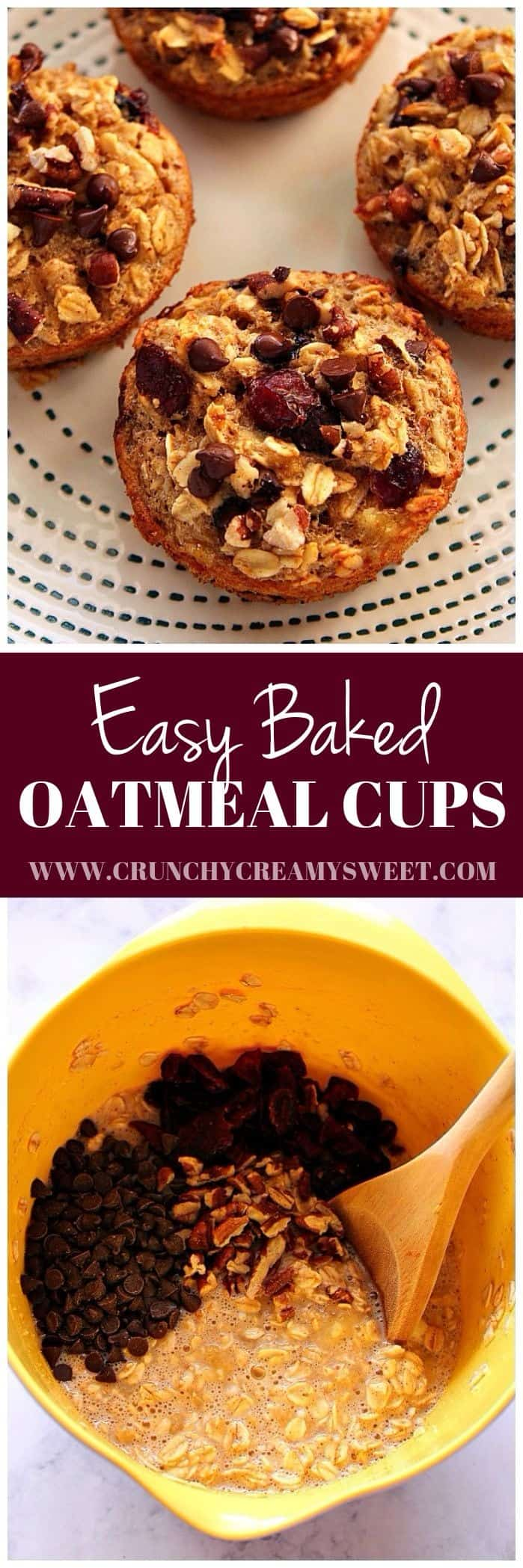 easy baked oatmeal cups recipe long Easy Baked Oatmeal Cups Recipe