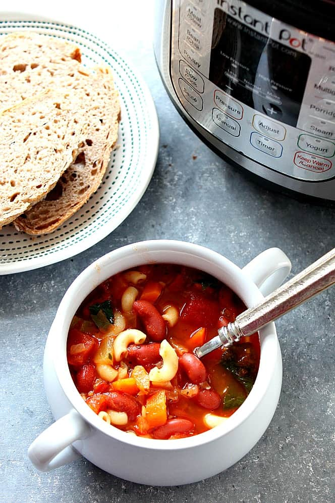 instant pot minestrone 4 Instant Pot Minestrone Soup Recipe