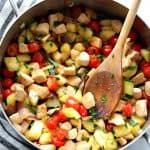skillet chicken with vegetables 150x150 Easy Chicken Skillet with Vegetables