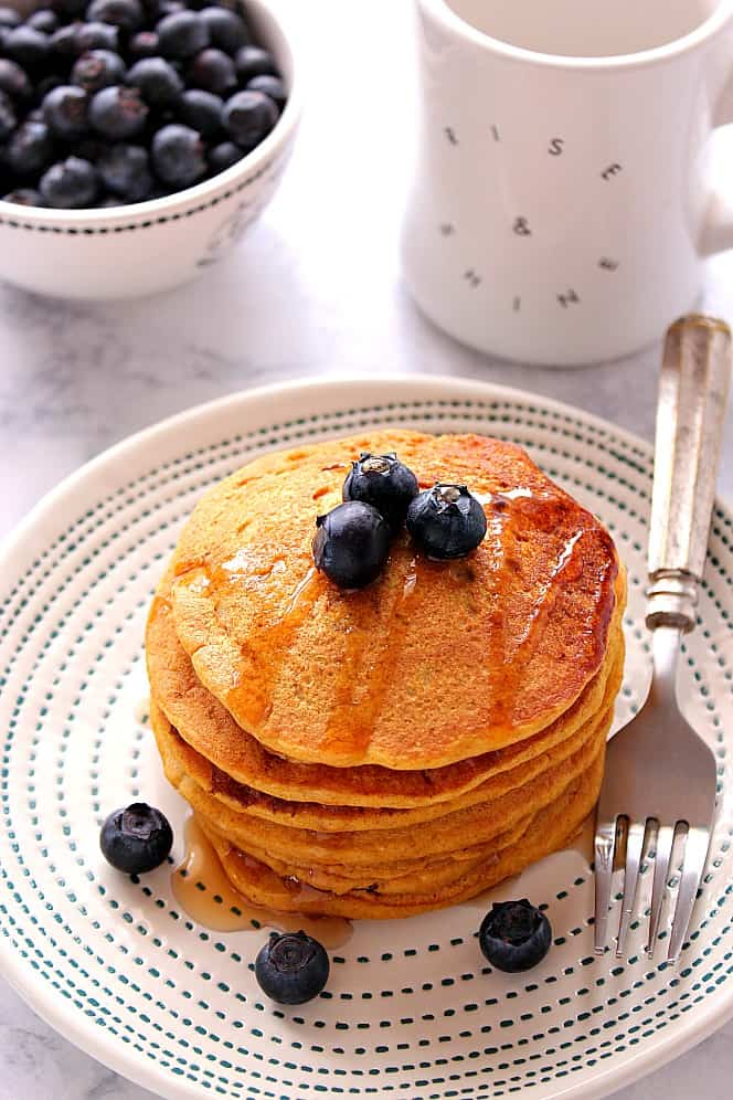 vegan fluffy pancakes recipe 2 Fluffy Vegan Pancakes