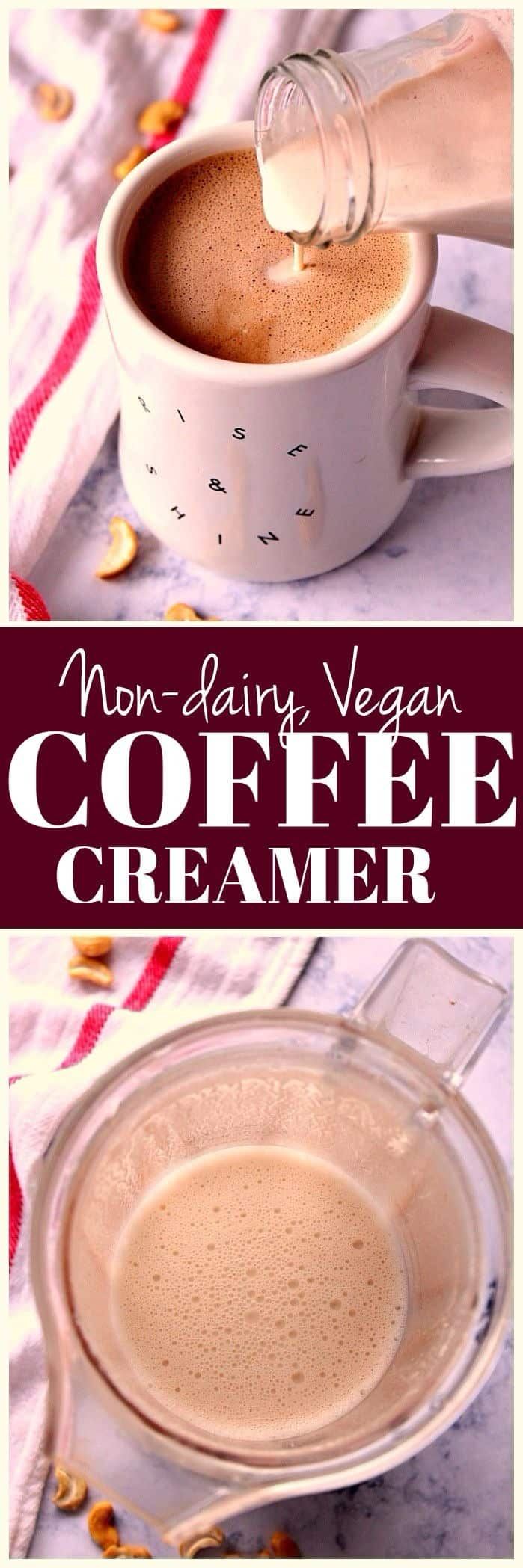 cashew coffee creamer non dairy vegan recipe long1 Cashew Coffee Creamer Recipe ( Vegan )