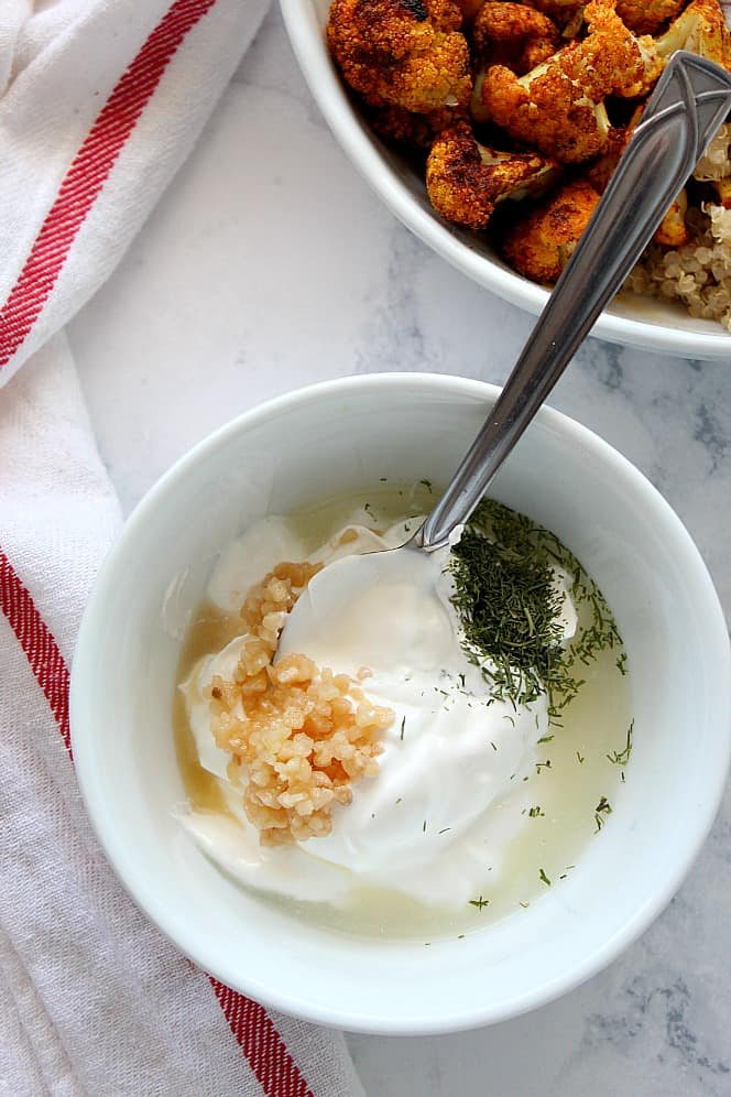garlic dill sauce Shawarma Roasted Cauliflower Recipe