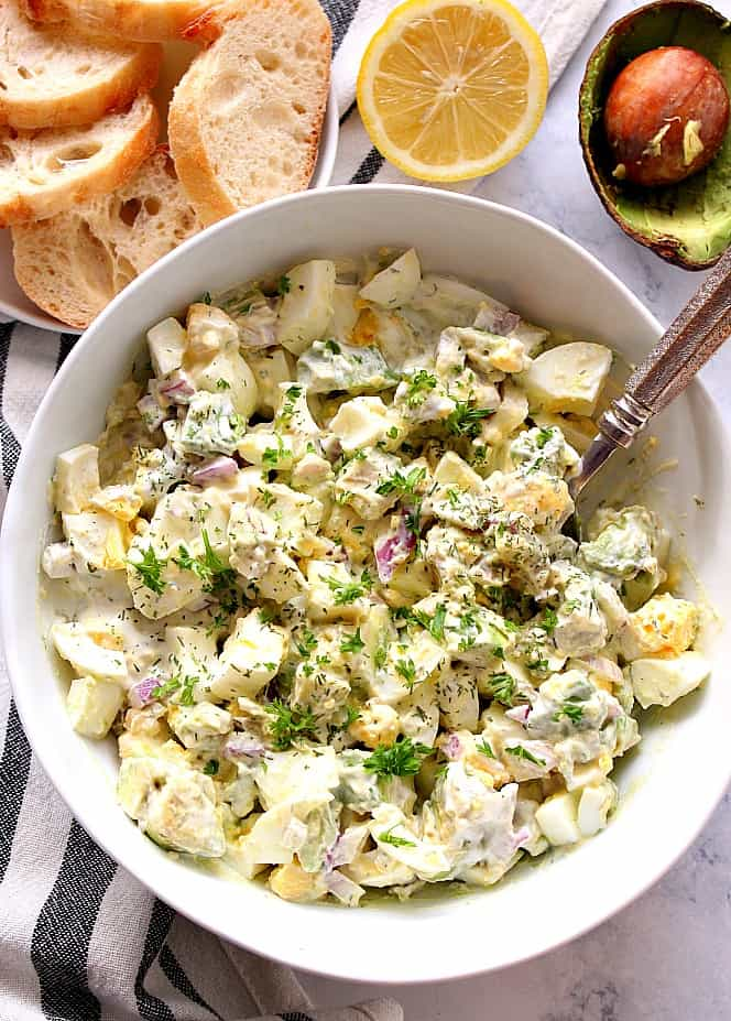 avocado egg salad 2 25 Delicious Avocado Recipes