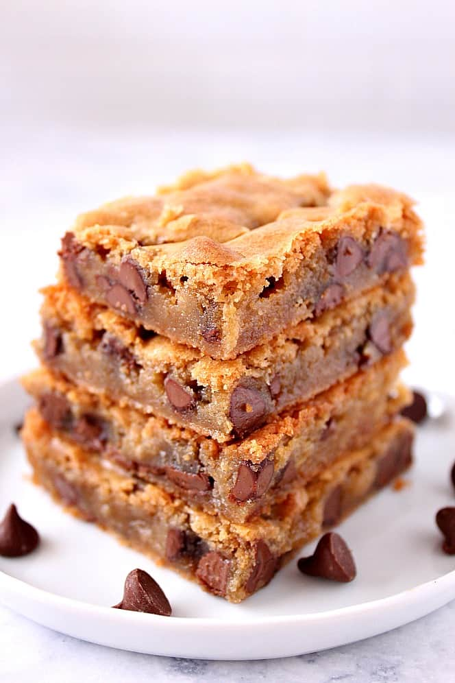 chocolate chip blondies recipe 1 Chocolate Chip Blondies Recipe