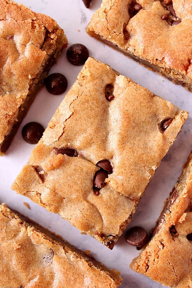 chocolate chip blondies recipe 3 Chocolate Chip Blondies Recipe