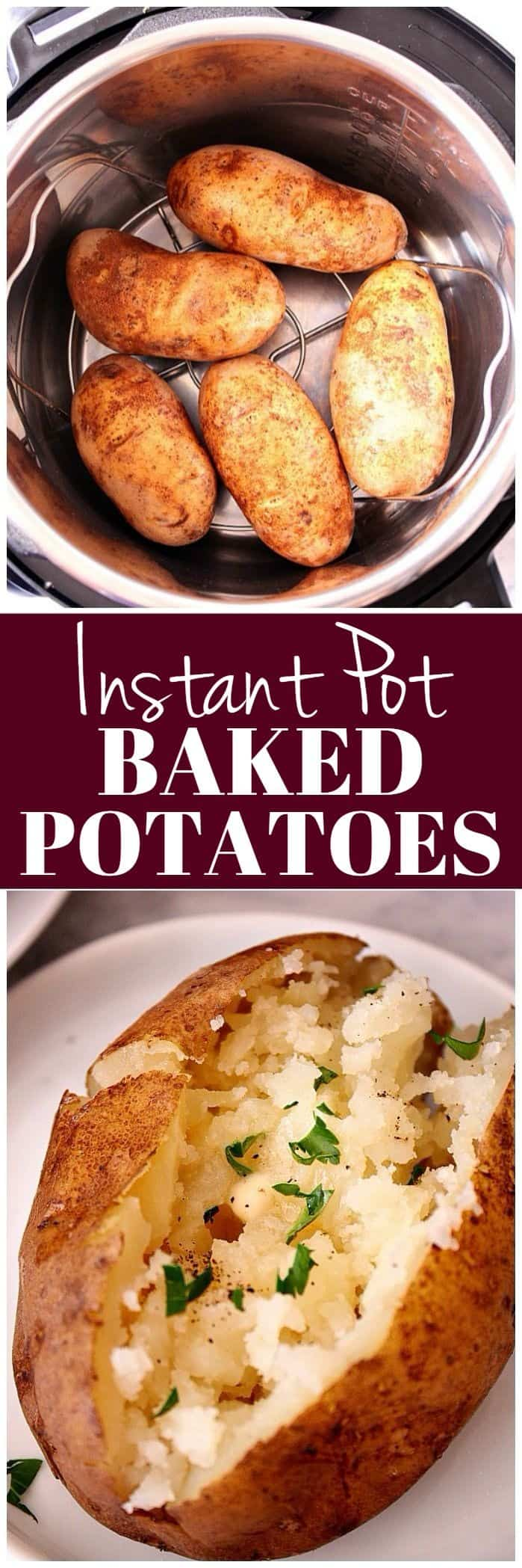instant pot pressure cooker baked potatoes 1a Instant Pot Baked Potatoes Recipe