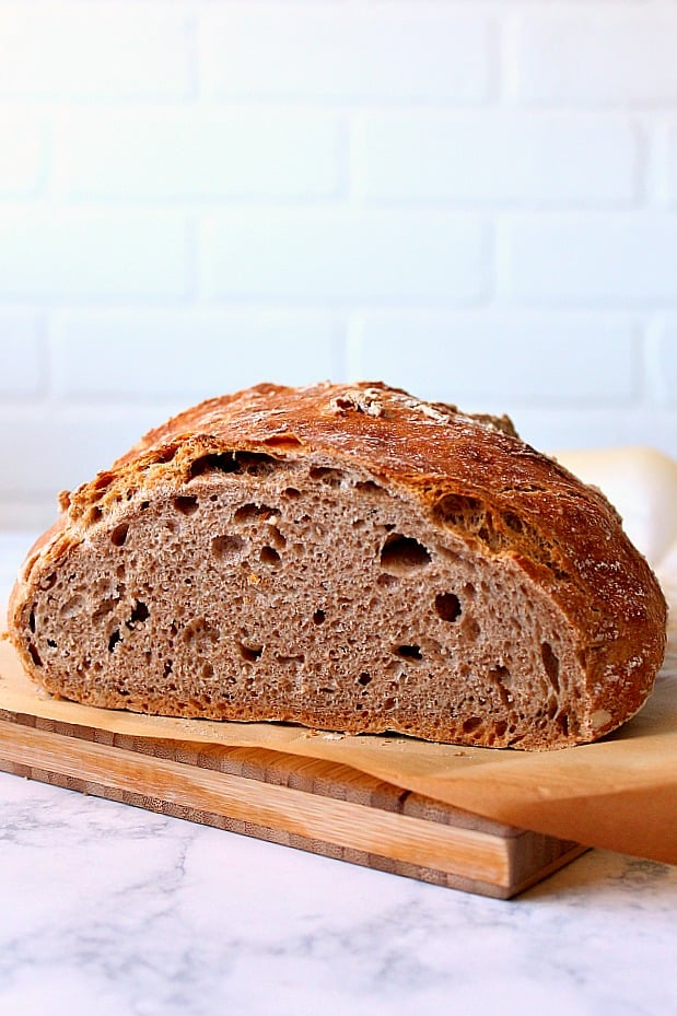 whole wheat no knead bread 1 Whole Wheat No Knead Bread Recipe