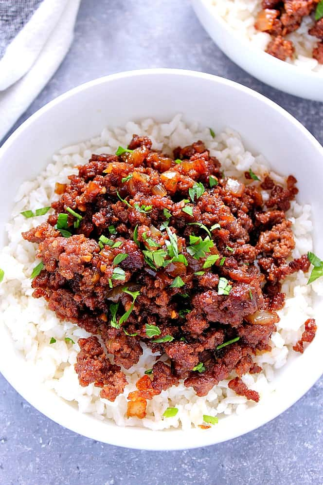 Korean Beef Rice Bowls 2 Easy Korean Beef