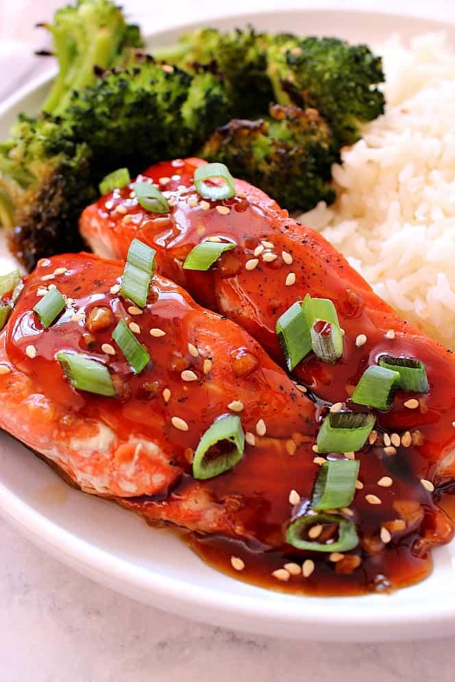 baked teriyaki salmon 1 Baked Teriyaki Salmon