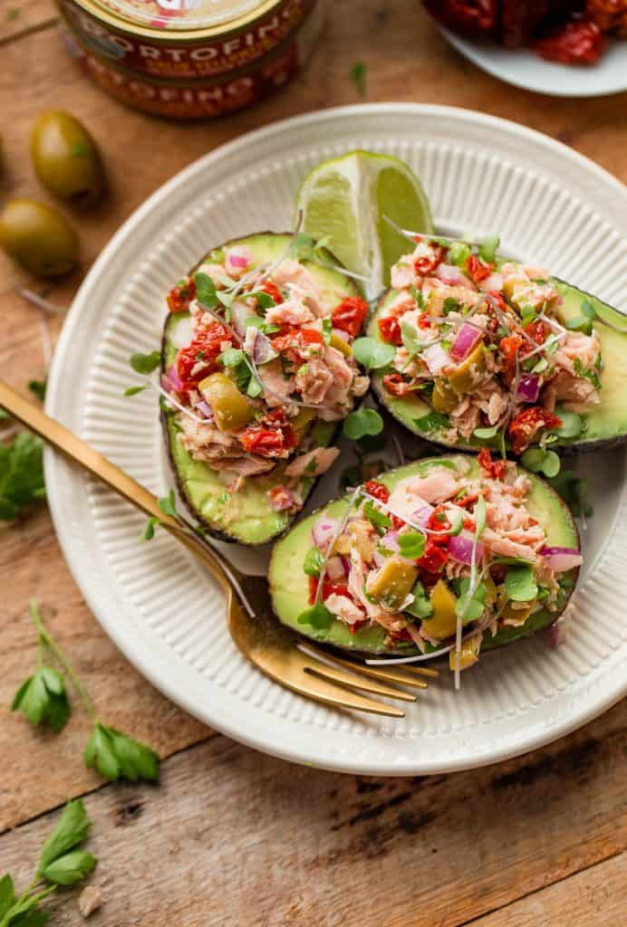 tuna avocado boats recipe 2 692x1024 25 Delicious Avocado Recipes