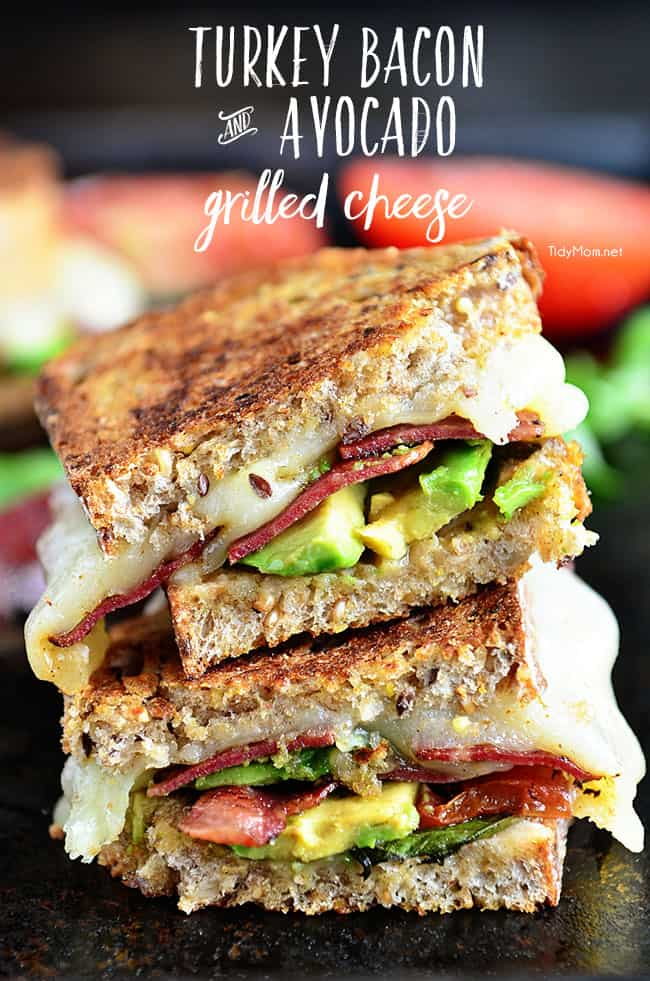 turkey bacon grilled cheese sandwich 25 Delicious Avocado Recipes