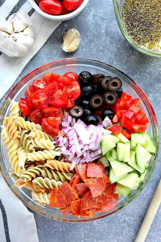Italian pasta salad 1 Italian Pasta Salad Recipe