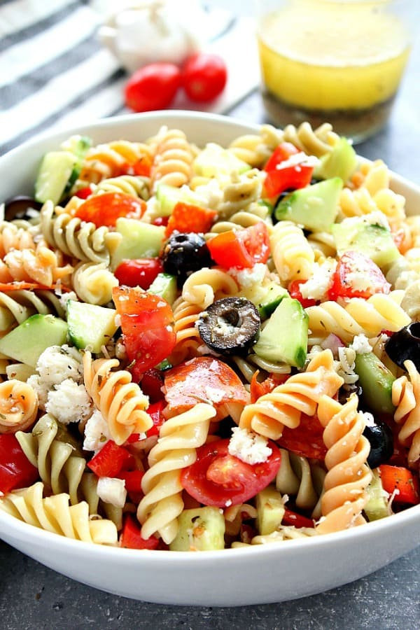 Italian Pasta Salad With Pepperoni Crunchy Creamy Sweet