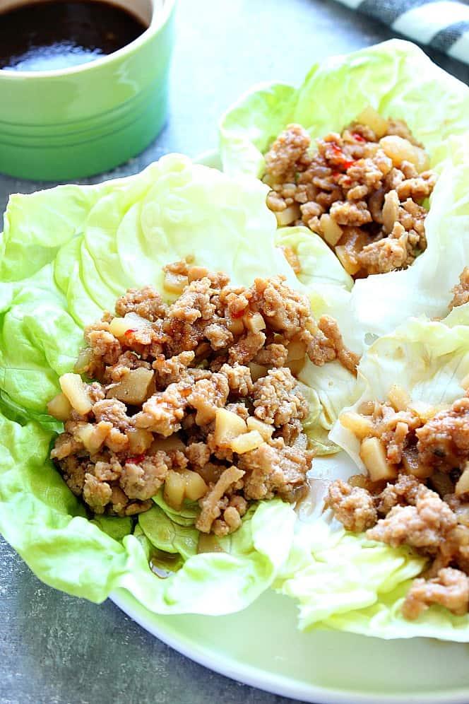 chicken lettuce wraps 6 P. F. Changs Chicken Lettuce Wraps (Copycat Recipe)