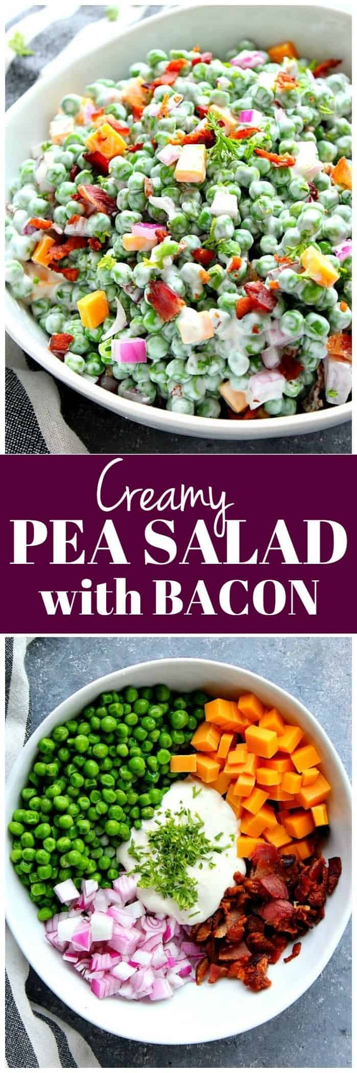 creamy green peas salad recipe 1 Creamy Pea Salad with Bacon