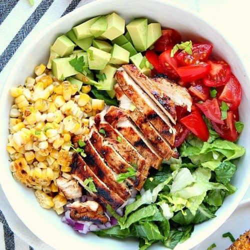 Grilled Chicken Salad Recipe - Crunchy Creamy Sweet
