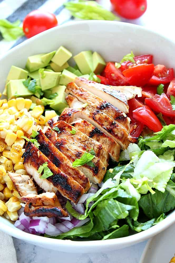 easy grilled chicken salad 2 Grilled Chicken Salad Recipe