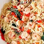 shrimp scampi 4 150x150 Shrimp Scampi with Peppers and Spinach