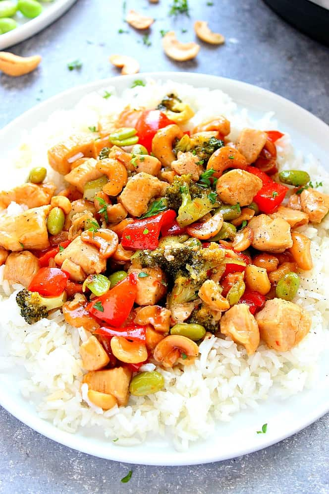 cashew chicken 4a Instant Pot Cashew Chicken Recipe