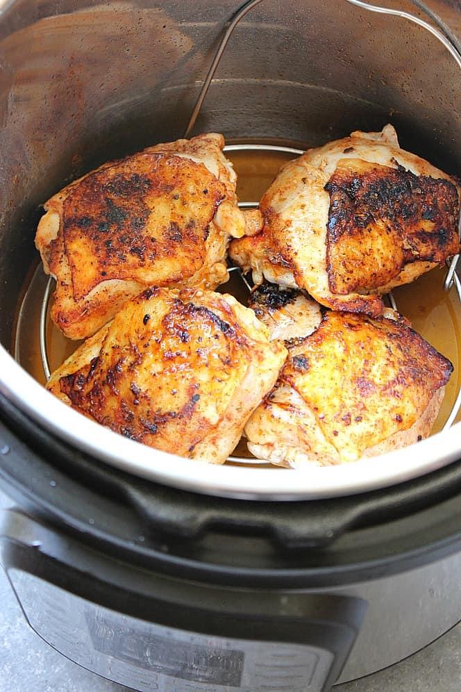 Instant Pot Chicken Thighs Recipe Crunchy Creamy Sweet