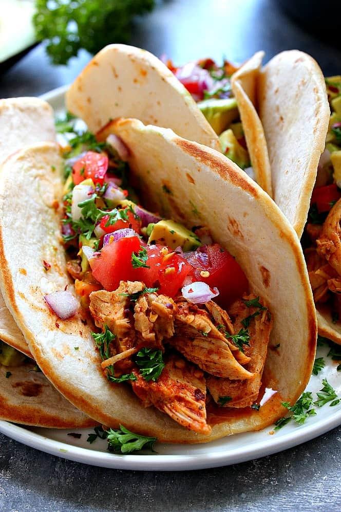 instant pot easy chicken tacos 2a Instant Pot Chicken Tacos Recipe