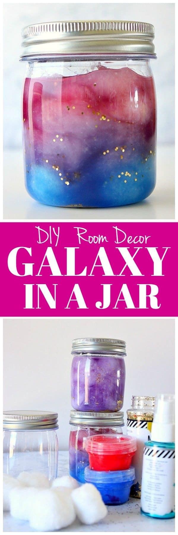 Diy Room Decor Galaxy In A Jar Crunchy Creamy Sweet