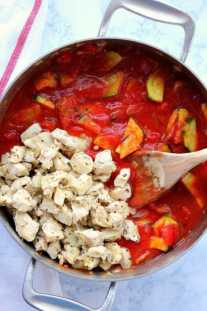 chicken ratatouille 2 One Pot Chicken Ratatouille Recipe