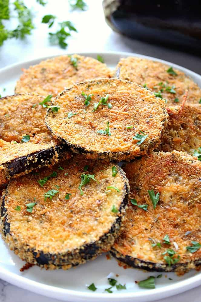 garlic parmesan eggplant recipe 3 Garlic Parmesan Baked Eggplant Recipe