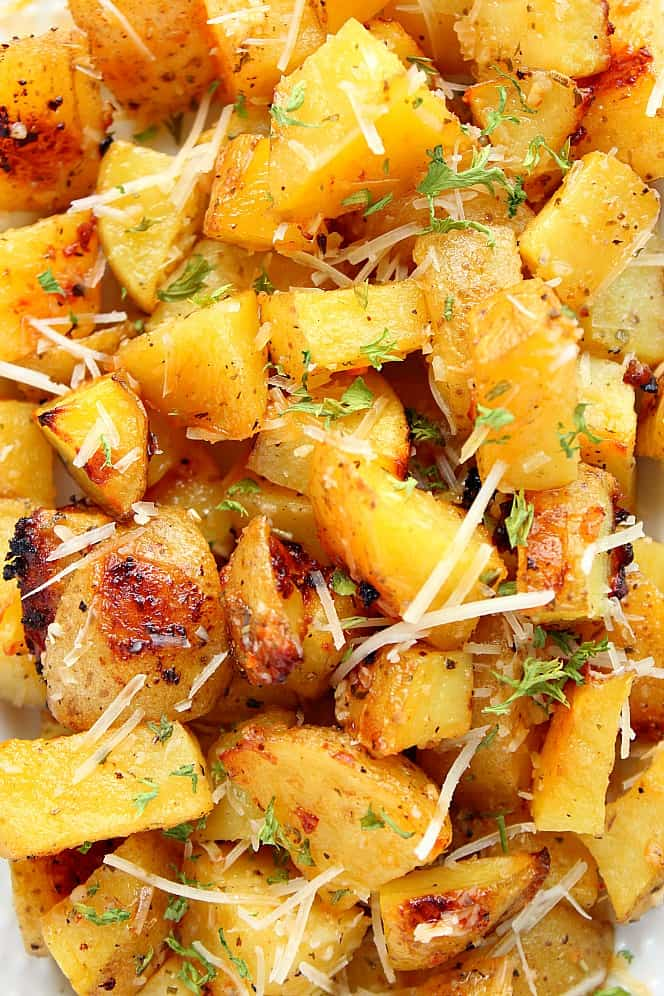 Garlic Ranch Roasted Potatoes Recipe Crunchy Creamy Sweet