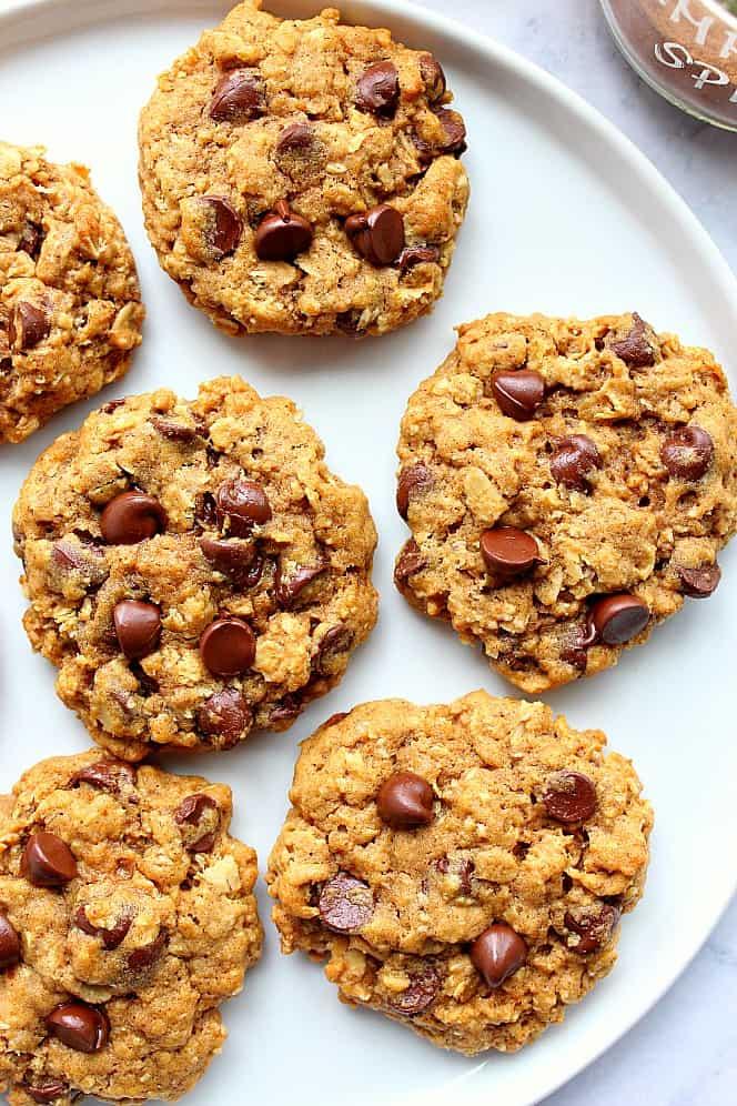 pumpkin oatmeal cookies 3 Pumpkin Oatmeal Chocolate Chip Cookies Recipe