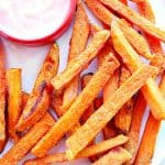 sweet potato fries B 150x150 Crispy Sweet Potato Fries
