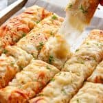 garlic butter cheesy breadsticks 5 150x150 Garlic Butter Cheesy Breadsticks Recipe