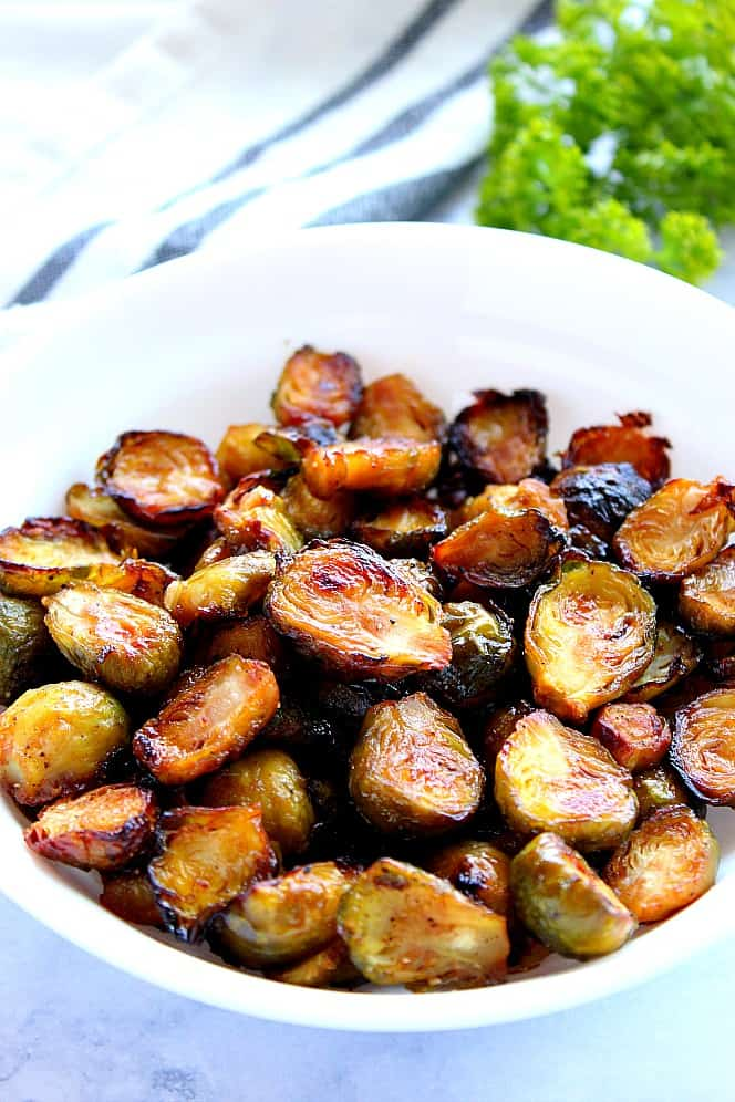 honey balsamic roasted brussels sprouts 4 Honey Balsamic Roasted Brussels Sprouts Recipe
