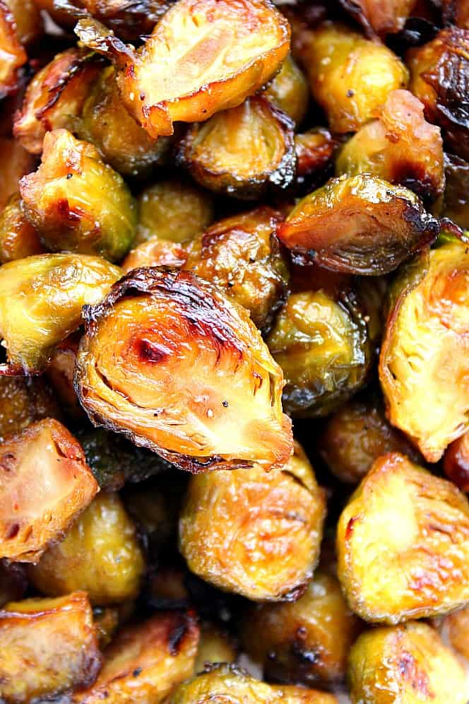 honey balsamic roasted brussels sprouts 5 The Best and Easy Holiday Dinner Recipes