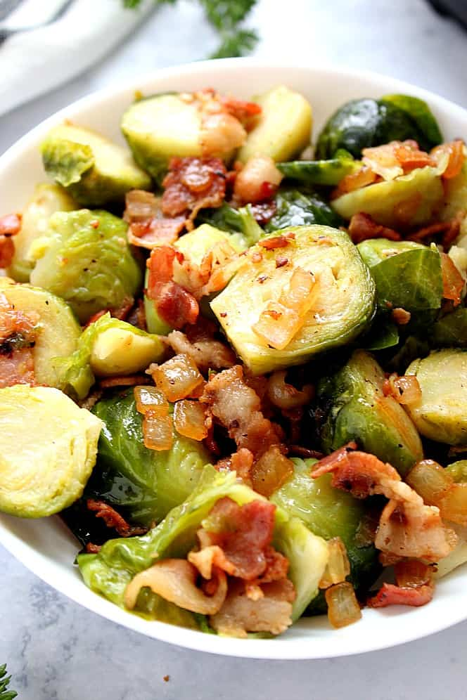 instant pot bacon Brussels sprouts 4 The Best and Easy Holiday Dinner Recipes