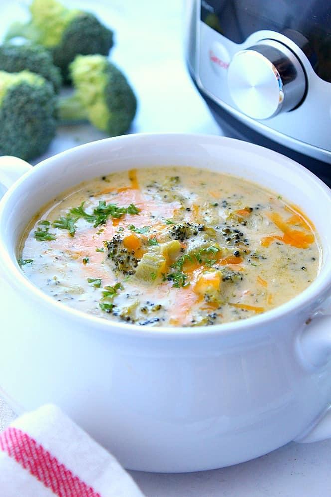 instant pot broccoli cheddar soup 4 Instant Pot Broccoli Cheddar Soup Recipe