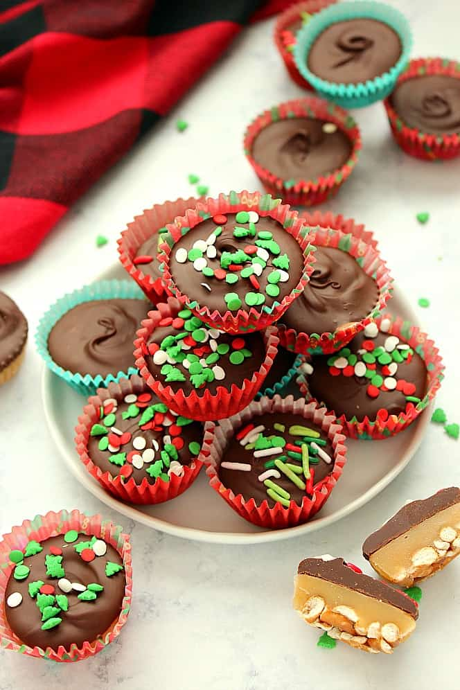 Chocolate Caramel Pretzel Cups 5 Chocolate Caramel Pretzel Cups Recipe