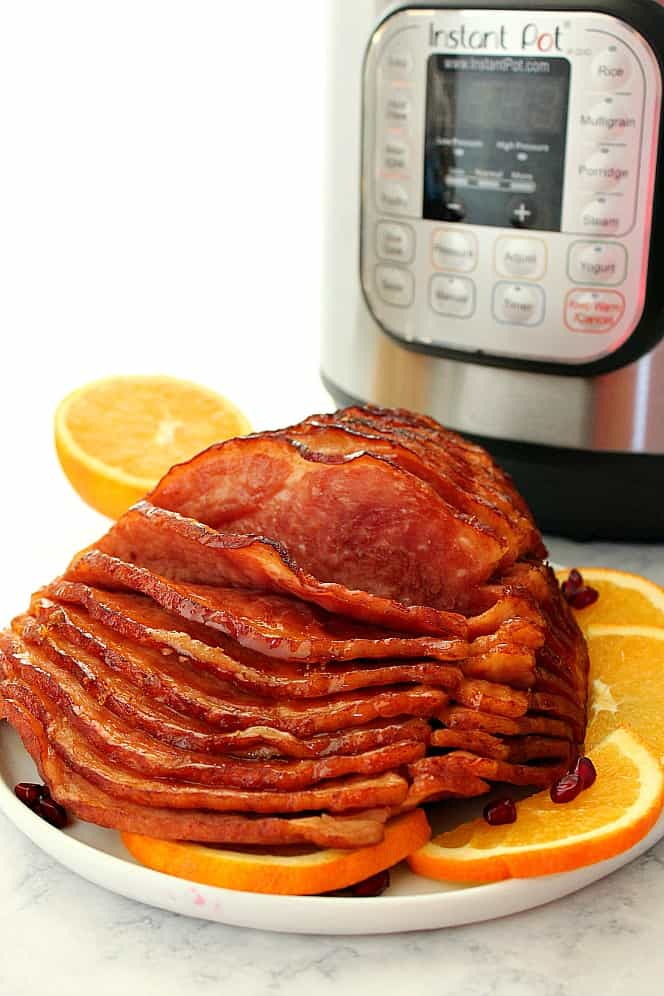 Instant Pot Honey Orange Glazed Spiral Cut Ham 1 Instant Pot Honey Orange Glazed Ham