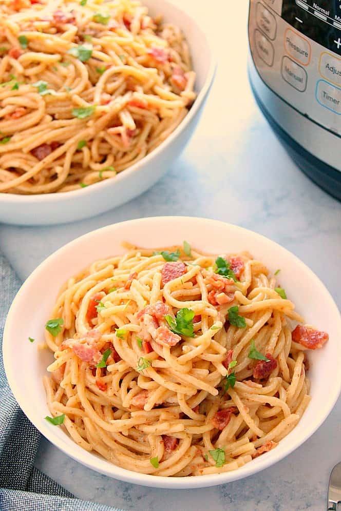 Instant Pot Pasta Carbonara 7a Instant Pot Pasta Carbonara Recipe