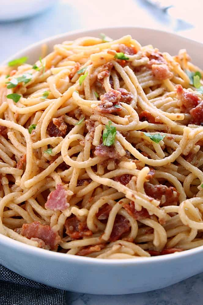 Instant Pot Pasta Carbonara A 14 Day Instant Pot Meal Plan