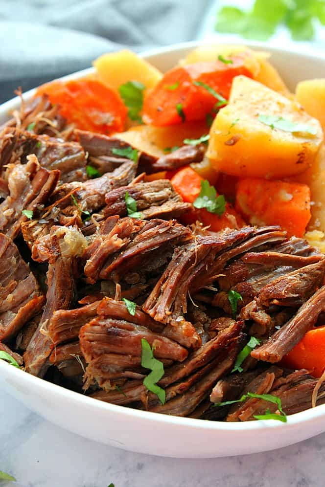 Instant Pot Pot Roast with vegetables 4 Instant Pot Pot Roast