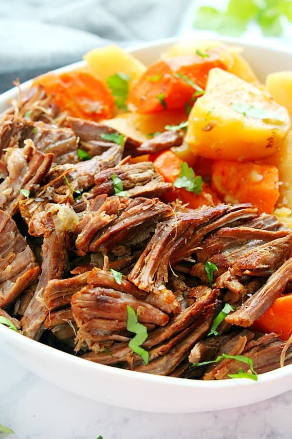 Instant Pot Pot Roast with vegetables A 14 Day Instant Pot Meal Plan