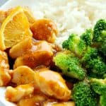 Skinny Orange Chicken with rice and broccoli A 150x150 Skinny Orange Chicken Recipe